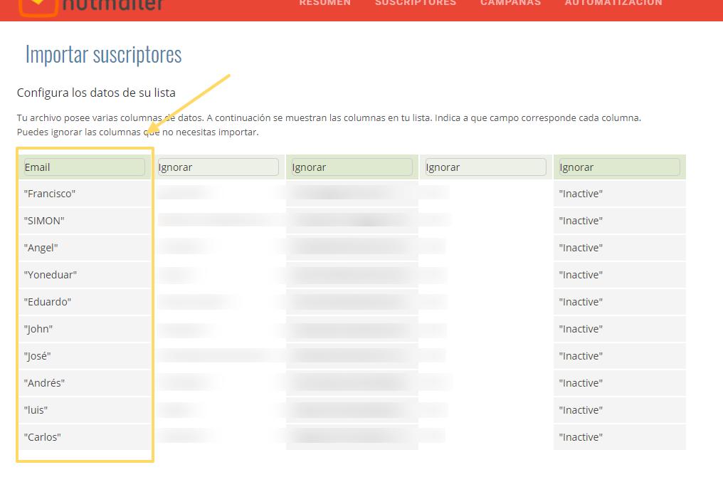 Crear listas de suscriptores en NutMailer