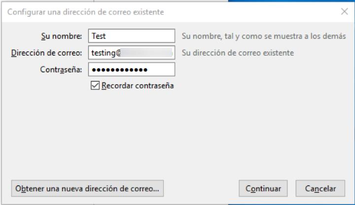 ¿Cómo configurar una cuenta de email en Thunderbird?