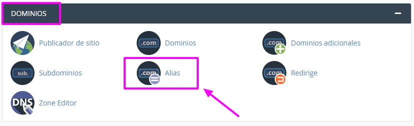 Cómo añadir un alias de dominio en cPanel