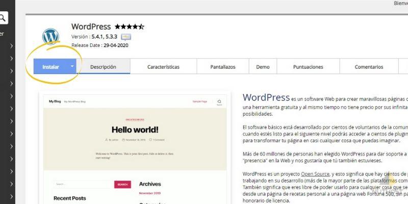 cómo instalar wordpress en mi hosting