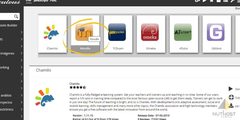 moodle cpanel