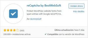 Captcha en WordPress reCapcha by BestWebSoft Centro de Ayuda NUTHOST