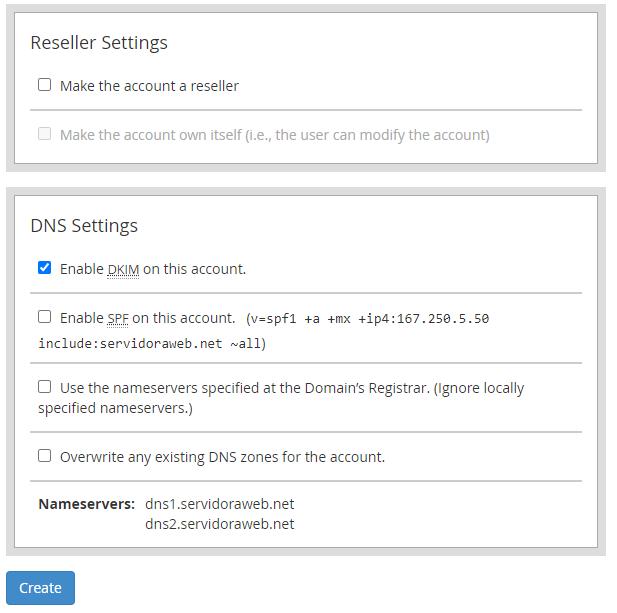 ¿Cómo crear una cuenta de Hosting en WHM?