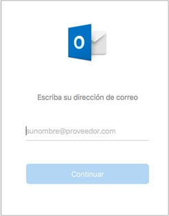 Agregar cuenta Outlook Mac