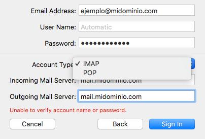 Configuración manual servidor de correos