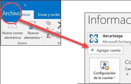 agregar cuenta Outlook 365